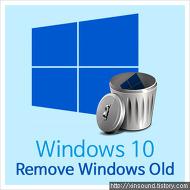 윈도우10 윈도우 이전버전 삭제!