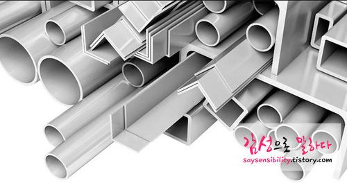 알루미늄의 기계적 성질과 비중, 용도 (알루미늄 사각파이프, 원파이프)