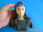 안 비슷한 여자사람친구 3D프린팅 피규어 제작.