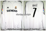"05/06 Real Madrid Home L/S No.7 Capitán ""Raul"" Gonzalez Match Issued Shirt (SOLD OUT)"