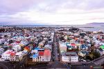 아일슬란드 6일차 - 할그림스키르캬 교회에서 본 도시 풍경