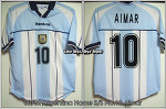 00/02 Argentina Home S/S No.10 Aimar Player Issue Shirt