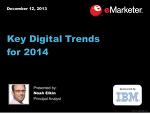 2014년에 주목해야 할, 주요 디지털 트랜드 요약