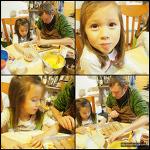 자기 손으로 직접 생일 케이크 만드는 아이들