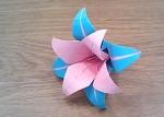 종이접기 꽃 백합