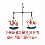 홍콩 생활 : 한국과 홍콩의 무게 단위 그램/킬로그램/파운드