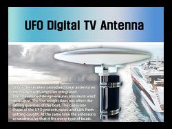 선박용 무지향성 디지털TV 수신 안테나 - UFO Antenna