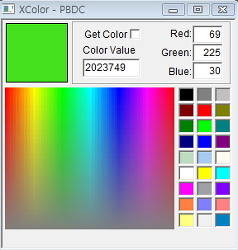[Powerbuilder] 색상 체크 프로그램