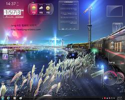 [레인미터 스킨] 환상적이고도 투명한 레인미터 스킨 Speed로 깨끗한 윈도우!