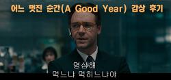 로맨스영화) 어느 멋진 순간(A Good Year) 감상 후기