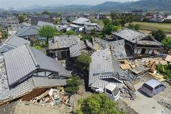 일본 구마모토 규슈 지진 피난민이 최대 21만 명