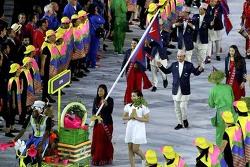 브라질 리우올림픽 개막식에 입장하는 네팔 선수단