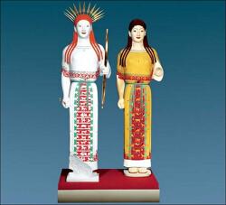 고대 그리스 로마 조각상들은 화려한 컬러 조각상이었다.