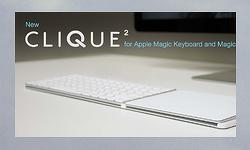애플 매직 키보드와 매직 트랙패드 2를 하나로 결합시켜주는 'Clique 2'