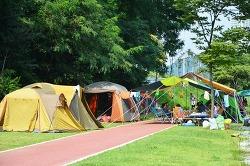 불법적인 취사,야영을 즐기는 대전 초지공원