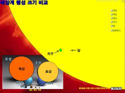 행성의 크기 비교 프로그램