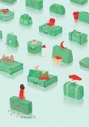 여행가방들의 방
