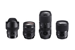 시그마 Sigma Full-Frame Lenses - 135mm f/1.8, 14mm f/1.8, 24-70mm OS, 100-400mm OS