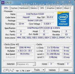 인텔 펜티엄 G3220 하스웰 성능 벤치마크