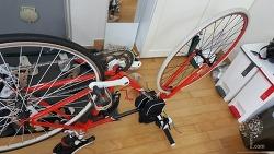 700c 하이브리드 자전거 타이어 튜브 직접 교체하기