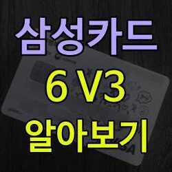 삼성카드 6 V3 알아보기