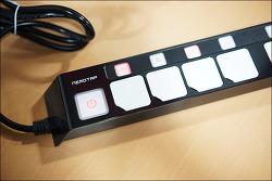 멀티탭 추천, 개별 스위치가 있는 네모탭 / 선 정리가 가능한 에이블루 박스탭 사용 후기