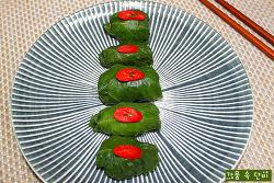 시골 마당 평상에서 먹던 호박잎과 구수한 강된장 만들기