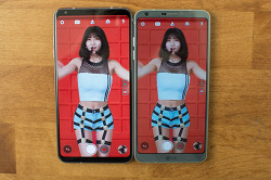 OLED LG V30와 IPS G6 디스플레이 비교