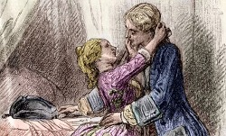 VIDEO; A 19th century engraving of Casanova and one of his conquests.