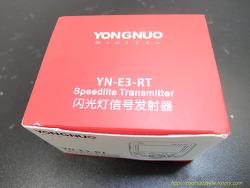 1806 플래시 무선 동조기 Yongnuo YN-E3-RT 도착하다.
