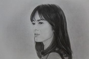 연필그림- 송혜교