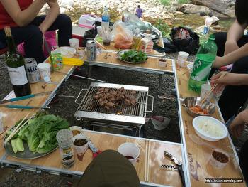 [오토캠핑장] 강원도 계곡 이 있는 영월 솔밭오토캠핑장 1박2일