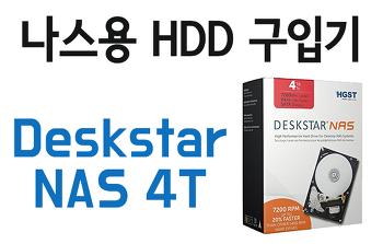 [나스300%활용] 히타치 Deskstar NAS 4T 개봉기