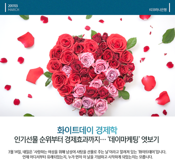 화이트데이 경제학 : 인기선물부터 경제효과까지 '데이마케팅' 엿보기