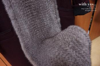 고급스러운 색감의 니팅밍크머플러(밍크목도리) 블루아이리스를 사다 by S