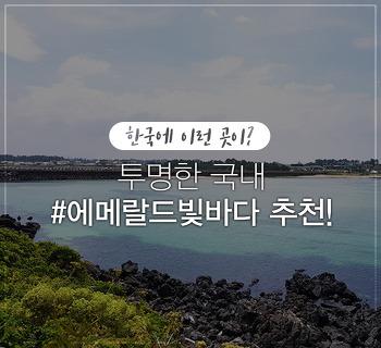 한국에 이런 곳이? 해외 갈 필요없는 에메랄드빛 예쁜 바다 추천!