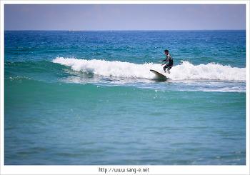 속초 송지호 해수욕장에서 서핑 구경하고 왔어요