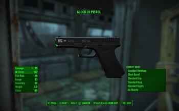 [폴아웃4 모드]Glock 20 Pistol(글록)