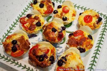 계란 식빵 머핀 만들기 - 남은 식빵 활용 요리