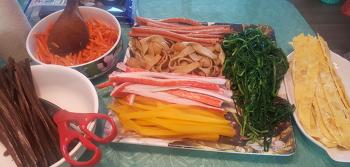 집에서 맛있는 김밥 해먹기♡ 김밥 재료 맛있게 먹는방법^^