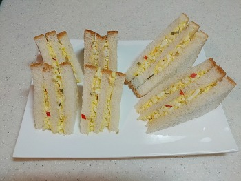 엄마표 계란듬뿍 샌드위치 만들기