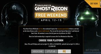 톰 클랜시의 고스트 리콘 와일드랜드(Tom Clancy's Ghost Recon Wildlands) 무료 배포중!