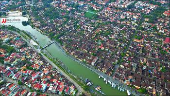 베트남 호이안 한낮의 풍경 / Hoian, Vietnam / Mavic Pro Drone