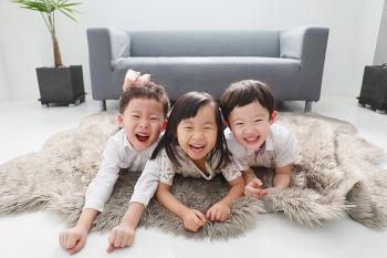 [대전 우정사진] 햇살같았던 세 꼬마친구들