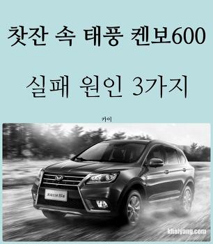 찻잔 속 태풍 중국차 켄보600, 실패 원인 3가지