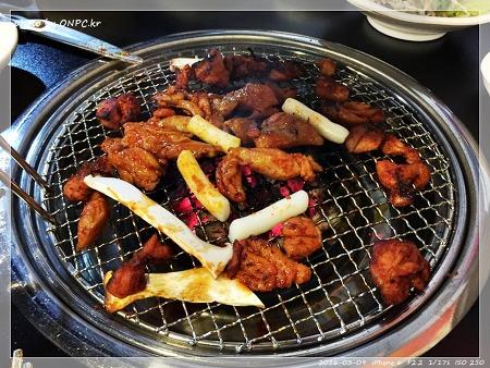 숯불에 구워먹는 닭갈비 - 매곡숯불닭갈비