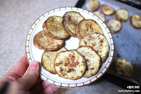 간식으로 좋은 고구마 요리, 고구마칩 만들기