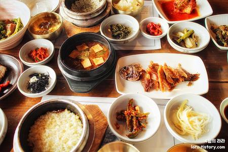 분당한정식·판교한정식, 산뜨락 보리굴비 맛집