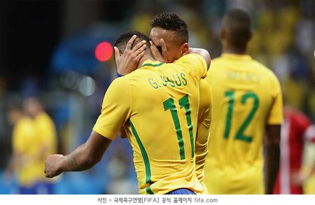 리우 올림픽 8강 확정, '개최국' 브라질 합류...일본은 탈락