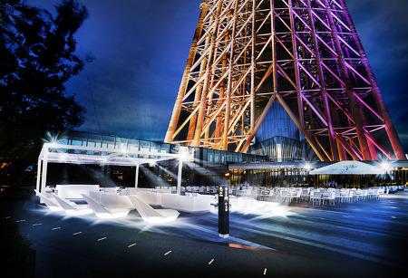7월 12일~9월28일, 도쿄 스카이트리에 見上げるビアガーデン(올려다보는 비어가든)이 오픈